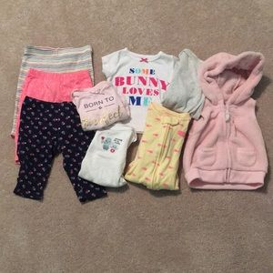 0-3 Baby Girl Assorted Clothes Bundle